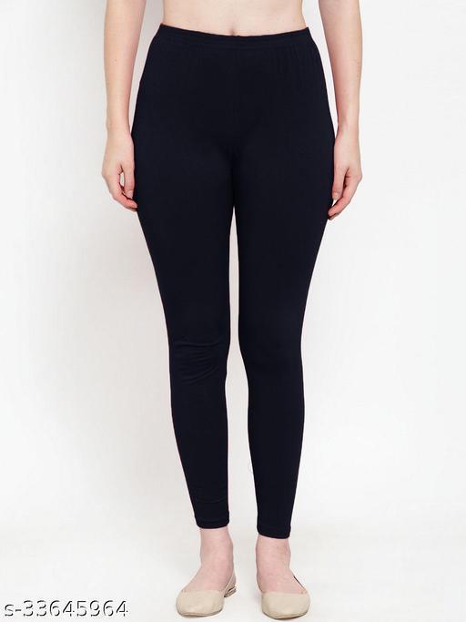 women's cotton blend stretch Ankel lenght leggings