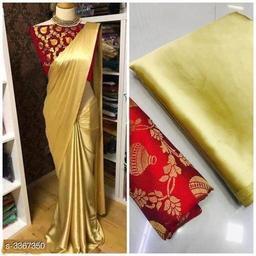 Designer Satin Silk Womens Sarees