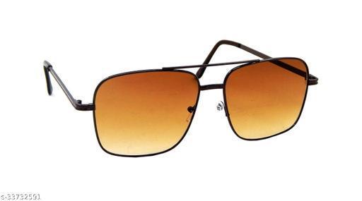 Els Men & Women, Unisex Sunglass, Rectangular, Brown (BAVY-11002-BR-BR-S)