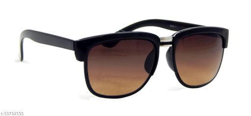Els Men & Women, Unisex Sunglass, Rectangular, Black (ANSU-22988-BLACK-BROWN-SHINY)
