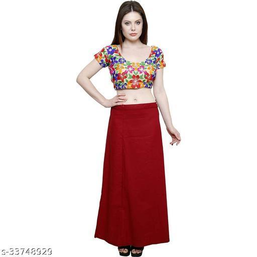 BelleVie 100% Pure Cotton Premium Quality Petticoat Pack Of 1