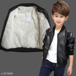 Adorable Leather Kid's Boy's Jacket