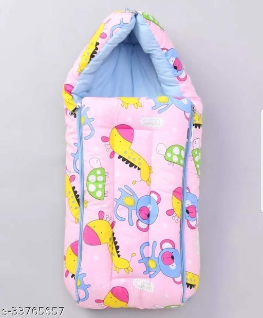 BRANDONN Baby Blankets Newborn Pack of Super Soft Baby Wrapper Cum Baby Sleeping Bag for Baby Boys, Baby Girls, Babies (0-6 Months)