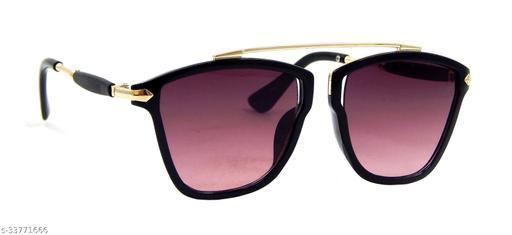 Els Men & Women, Unisex Sunglass, Rectangular, Black-Golden (COLIN-119467-BL-GD-PL-S)
