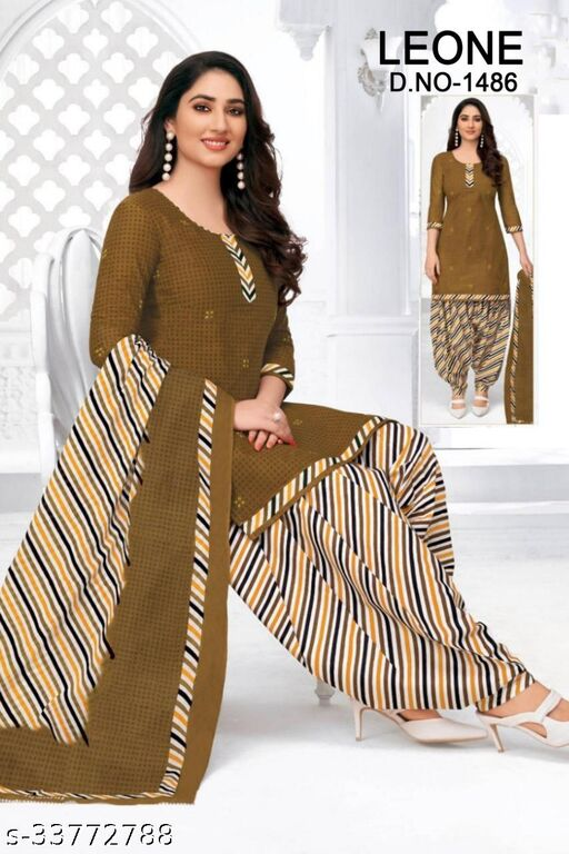 Beautiful Unstitched Printed Dress Material