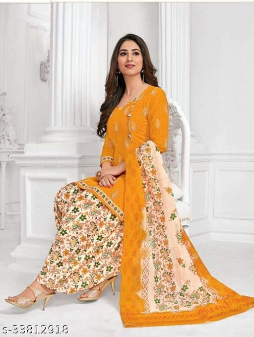 Printed Unstiched Dress Material For Women's