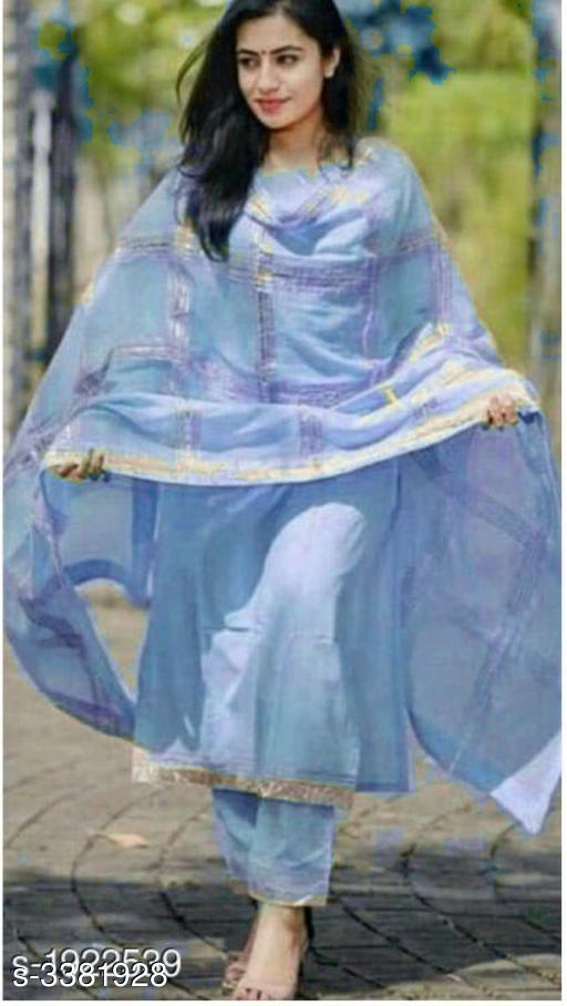 Kurta Sets Women Solid Rayon Kurta Set with Pants  *Fabric* Kurti - Cotton, Bottom - Cotton, Dupatta - Cotton  *Sleeves* Full Sleeves Are Included  *Size* Kurti - M - 38 in L- 40 in, XL - 42 in, XXL - 44 in,Bottom - M - 30 in, L- 32 in, XL - 34 in, XXL - 36 in,Dupatta - 2.5 Mtr  *Length* Kurti - Up To 46 in, Bottom - Up To 39 in  *Type* Stitched  *Description* It Has 1 Piece Of Kurti,1 Piece Of Bottom With 1 Piece Of Dupata  *Work* Kurti - Lace Work, Bottom - Lace Work , Dupatta - Lace Work  *Sizes Available* M, L, XL, XXL, XXXL *    Catalog Name: Women'S Kurta Sets CatalogID_469025 C74-SC1003 Code: 635-3381928-