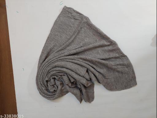 Fancy Stylish Women's Grey Woven Acrylic Wool Stole/ Wrap for Winers