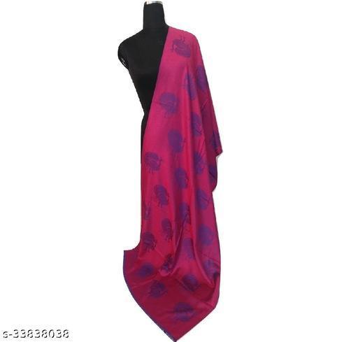 Designer Stylish Magenta Purple Reversible Silk Modal Stole/ Shawl for Women Wedding/Party