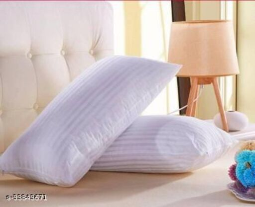 Regius Vaccum Packed Extra Fluppy Microfiber stripes Pillow Set Of 2