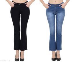 Trendy Comfy Dobby Denim Women's Jeans (Pack Of 2)