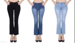 Trendy Comfy Dobby Denim Women's Jeans (Pack Of 3)