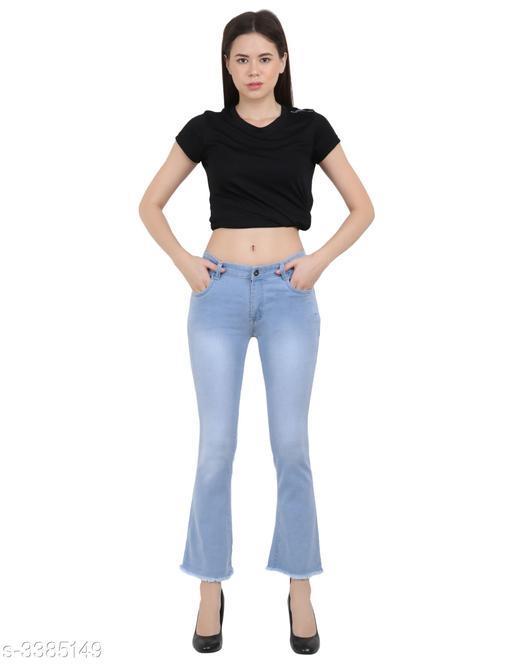 Trendy Comfy Dobby Denim Women's Jeans