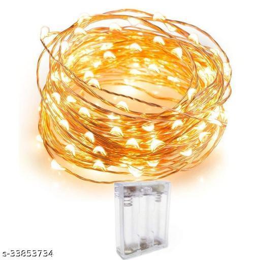 Copper String LED Lights 5 Metre 50 LED Bulbs