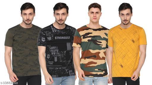 SHAUN Men Round Neck T-Shirt