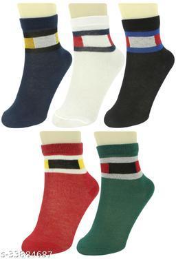 Neska Moda Kids  Cotton Ankle Length Socks