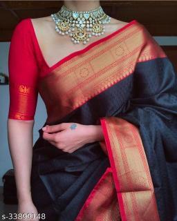 Trendy Women  Jacquard Saree