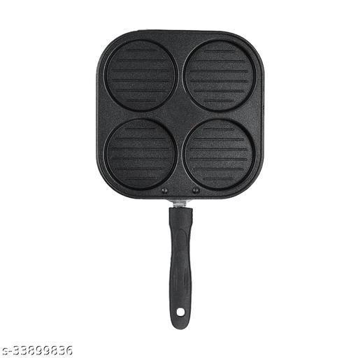SAURA Grill Mini UTTAPAM TAWA/Multi Snack Maker 4 in 1 - Mini Pancake Maker, Mini Crepe PAN, Pancake Moulds ( Aluminium, Non-Stick)