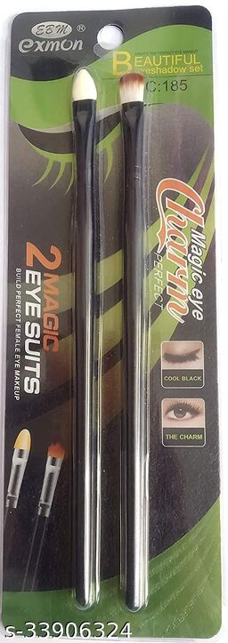 2 Piece Eye Shadow Brush Set With Soft Brush