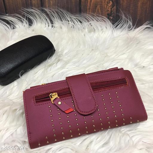 Trendy Women's Purple Pu Leather Clutch