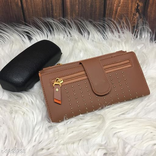 Stylish Women's Brown Leather Wallet