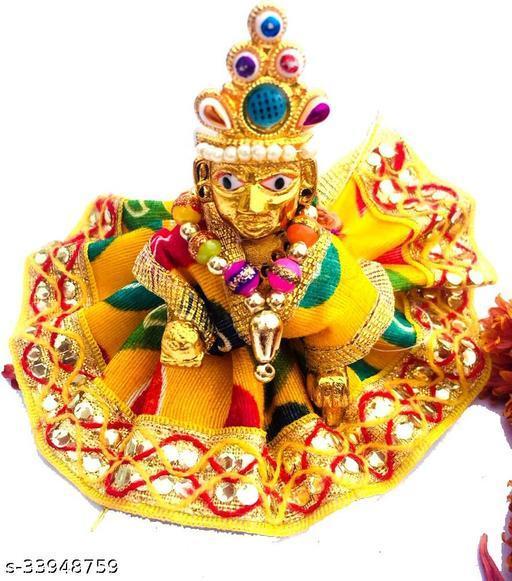Laddu Gopal Statue Pital Brass Murti Kanha ji with pushak
