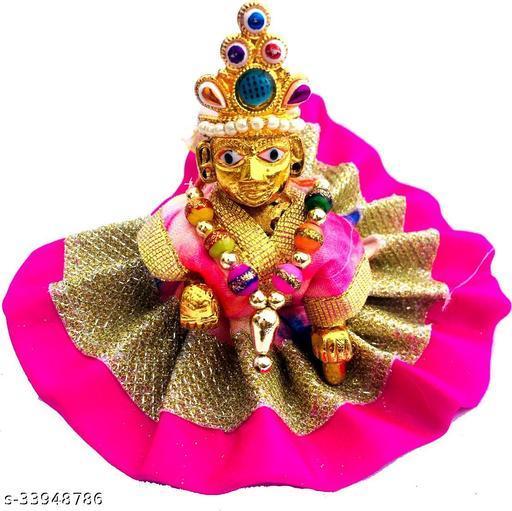 1 NO SIZE Pittal Laddu Gopal Statue Pital Brass Murti Kanha ji with pushak   (Brass, Multicolor) 13