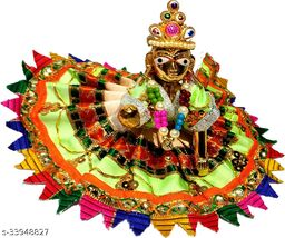 1 NO SIZE Pittal Laddu Gopal Statue Pital Brass Murti Kanha ji with pushak   (Brass, Multicolor) 18