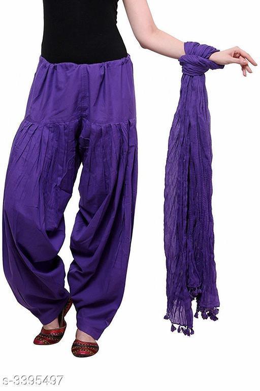 Elite Trendy Pure Cotton Patiala Salwar Pants & Dupatta