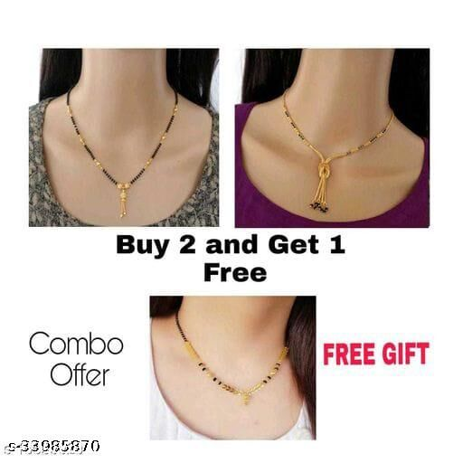 Bhumi09 women's  Mangalsutra with Combo  For Women