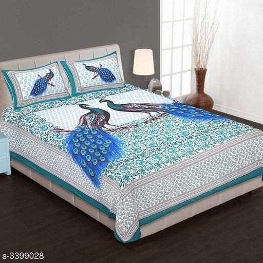 Attractive Cotton Printed Double Bedsheets