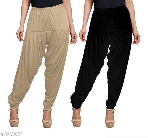 Fabulous Viscose Women's Patiala Pant Combo( Pack Of 2 )