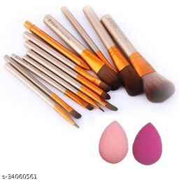 MAKEUP BRUSHES HIGH QUALITY WITH 2 PUFF