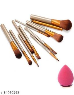 MAKEUP BRUSHES HIGH QUALITY WITH PUFF