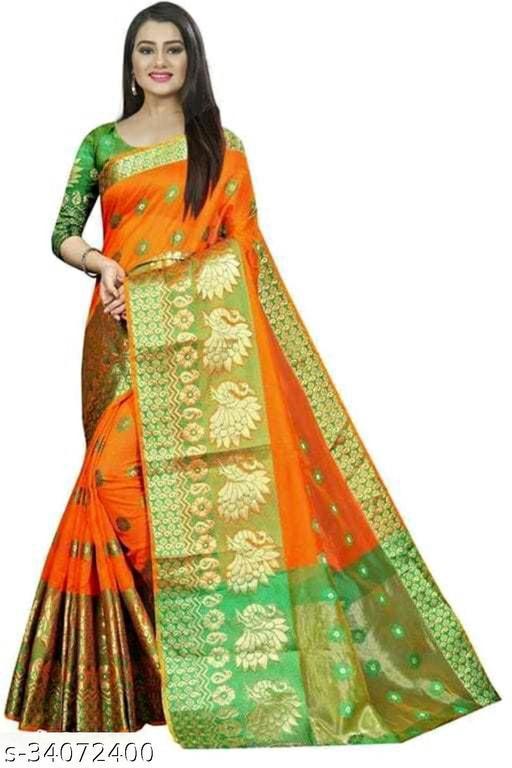 Vifhra Clothing Special Banarasi Pecock Cotton Silk Saree