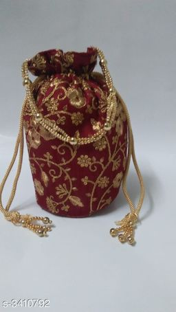 Women's Ethnic Synthetic Cloth Potli Bag