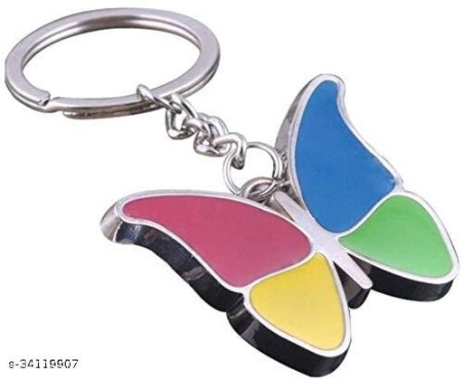 Butterfly Colourful Metal Keychain & Keyring