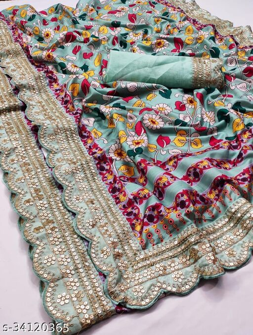 Vs Fab Printed soft silk saree