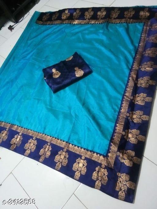 Ethnic Paper Silk Womens Saree