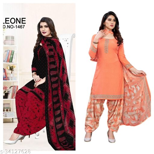 Osam Fahion Printed Suits material(pack of 2)