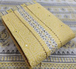 *Cotton printed mirror work top 2. 50 MTR*