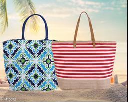 Trendy Jute Carry Bags ( Pack Of 2)