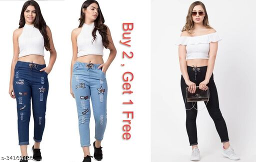 Trendy Stylish Women's Jeans ( Buy 2 , Get 1 Free )