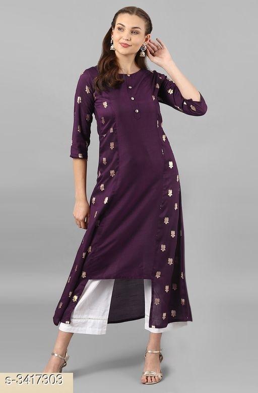 Navartri Special Purple Elegant Women's Kurti