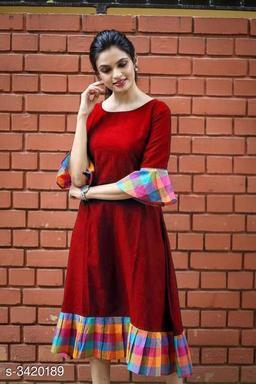 Women's Checked Cotton Kurti