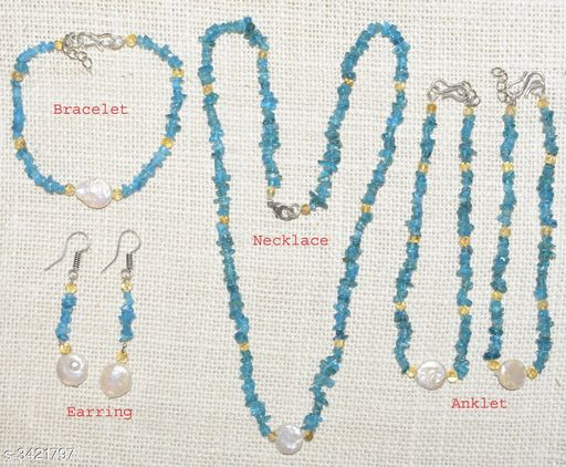 Jewellery Set Fancy Gemstone Jewellery Set  *Material* Crystal  *Size (L)* 21 in  *Description* It Has 1 Piece Of Necklace, 1 Piece Of Bracelet , 1 Pair Of Earring & 1 Pair Of Anklet  *Work* Embellished  *Sizes Available* Free Size *    Catalog Name: Attractive Fancy Gemstone Jewellery Sets Vol 1 CatalogID_475262 C77-SC1093 Code: 678-3421797-