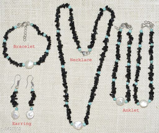 Jewellery Set Fancy Gemstone Jewellery Set  *Material* Crystal  *Size (L)* 21 in  *Description* It Has 1 Piece Of Necklace, 1 Piece Of Bracelet , 1 Pair Of Earring & 1 Pair Of Anklet  *Work* Embellished  *Sizes Available* Free Size *    Catalog Name: Attractive Fancy Gemstone Jewellery Sets Vol 1 CatalogID_475262 C77-SC1093 Code: 678-3421802-