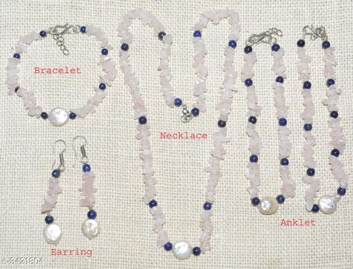 Jewellery Set Fancy Gemstone Jewellery Set  *Material* Crystal  *Size (L)* 21 in  *Description* It Has 1 Piece Of Necklace, 1 Piece Of Bracelet , 1 Pair Of Earring & 1 Pair Of Anklet  *Work* Embellished  *Sizes Available* Free Size *    Catalog Name: Attractive Fancy Gemstone Jewellery Sets Vol 1 CatalogID_475262 C77-SC1093 Code: 678-3421804-