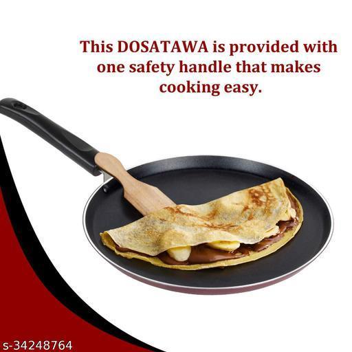 Non Stick Cookware 100% PFOA-Free Dosa Tawa, Thickness 3 mm ( Multicolor Made in India)