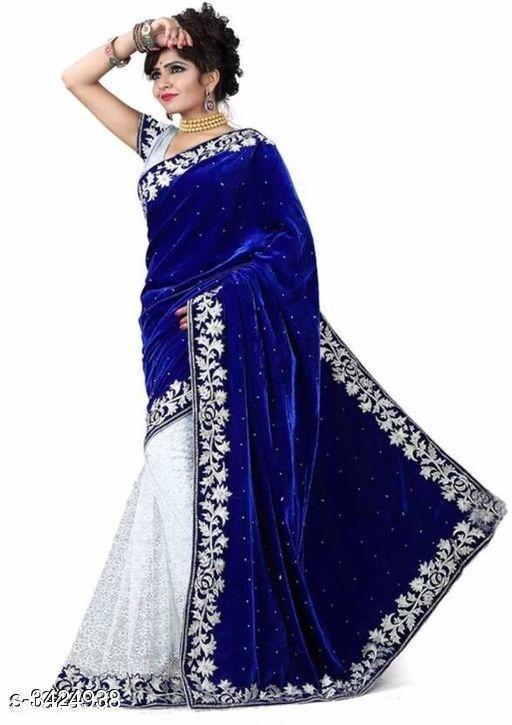Fashionable Velvet Women's Saree